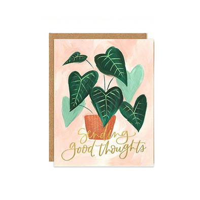 """Sending Good Thoughts"" Green Leaf Card"