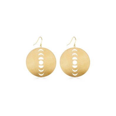 Circle Lunar Phases Earrings