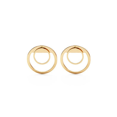 Concentric Circles Ear Jacket Earrings