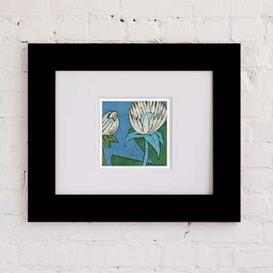 Turq Botanical One Art Print