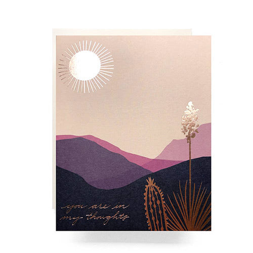 """You Are In My Thoughts"" Desert Landscape Card"