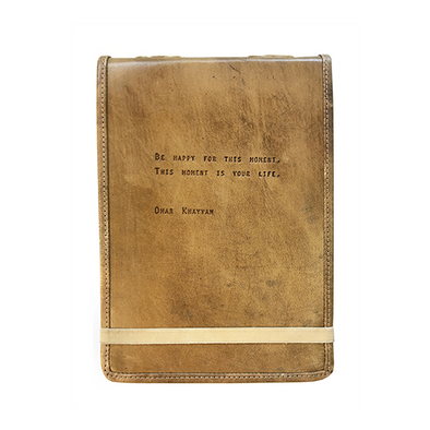 """Be Happy For This Moment"" Leather Journal"