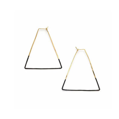 Mired Metal Rhombus Earrings