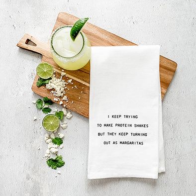 Protein Shakes Tea Towel