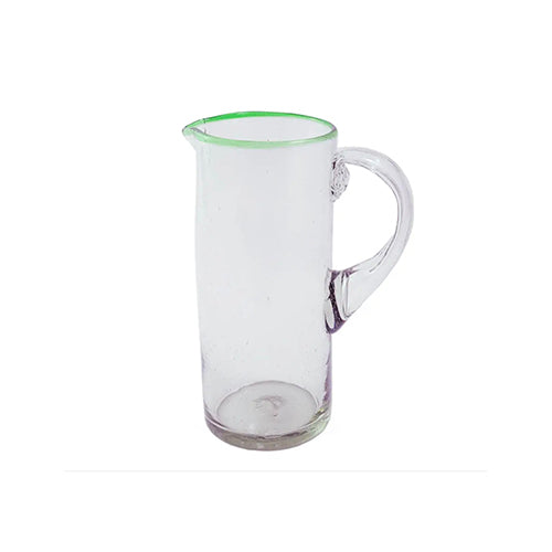 Green Rimmed Cylinder Pitcher