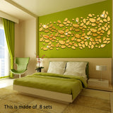 18pcs/set 3D Wall Sticker Decoration Mirror For TV Background Home Decor Modern Acrylic Decoration Wall Art