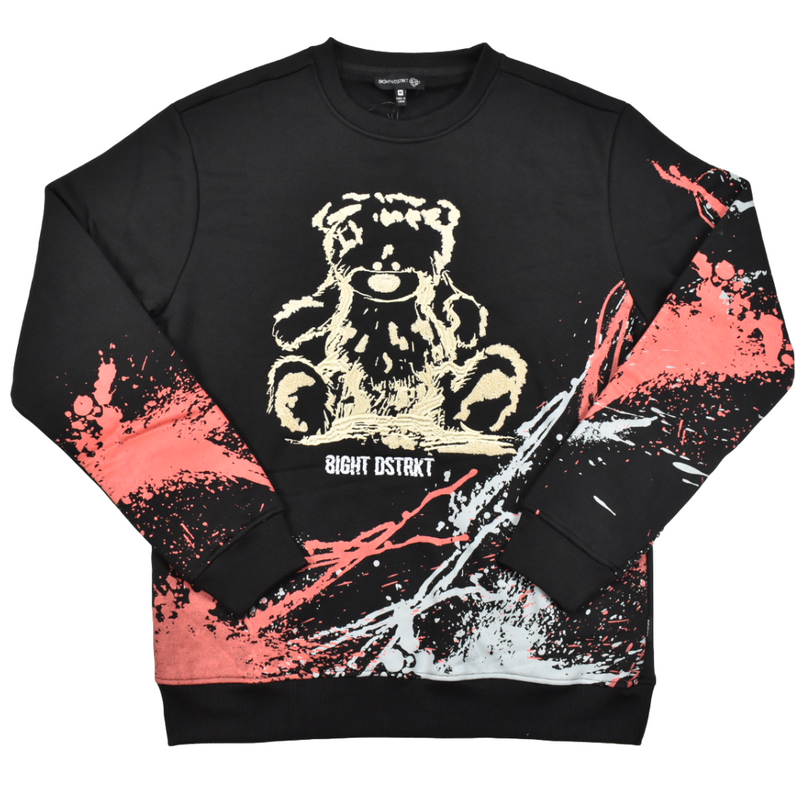 8ighth-dstrkt-fleece-crewneck-paint-black-memphis-urban-wear