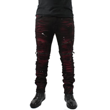 Men Biker Zipper Jeans
