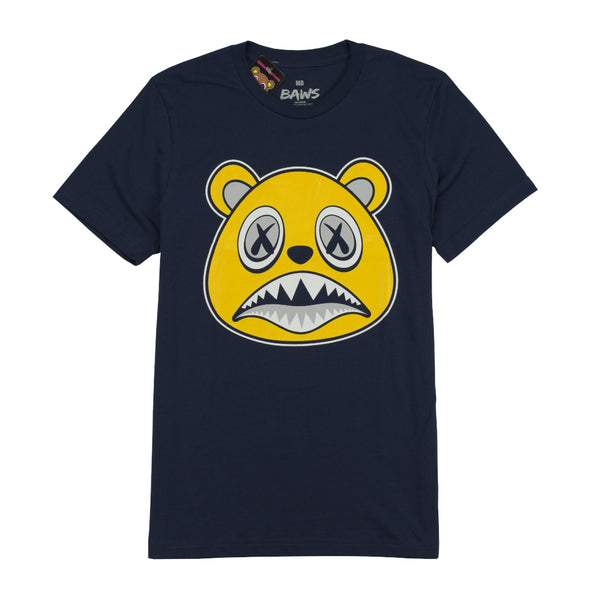 BAWS BEAR T-SHIRTS - MICHIGAN BAWS - NAVY Tops BAWS 31.99 memphis urban wear