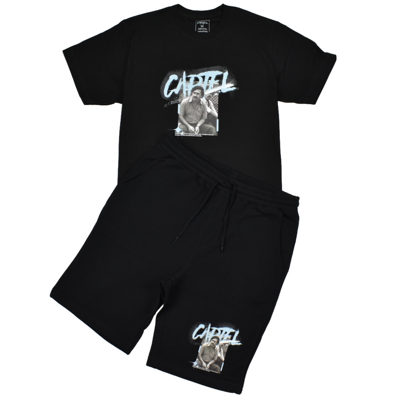 cartel-el-patron-short-set-black-memphis-urban-wear