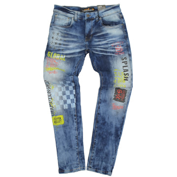 COPPER REVIT RACING PRINT JEANS SLIM FIT - 933037