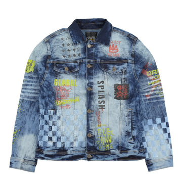 COPPER RIVET RACING PRINT JACKET SLIM FIT - 933537