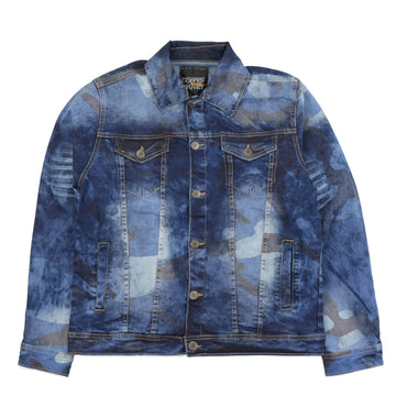 COPPER RIVET CAMO WASHED DENIM JACKET SLIM FIT - 933512