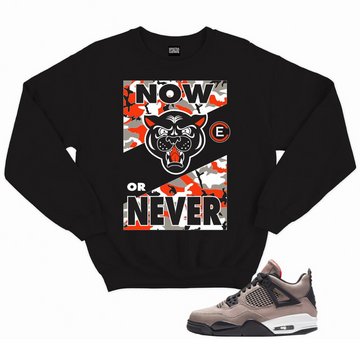 EFFECTUS CLOTHING NOW OR NEVER CREWNECK - BLACK