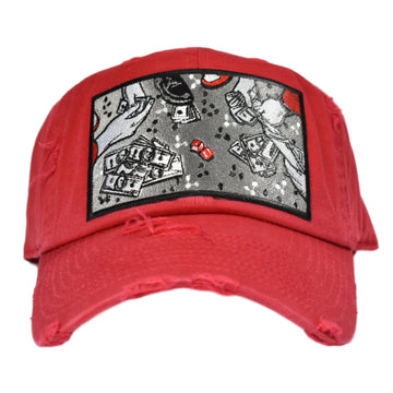 M V DAD HATS ROLLING DICE RED HAT