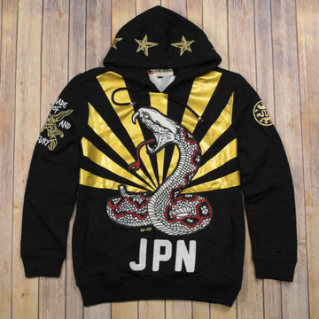EMBROIDERY SNAKE HOODIE 33101