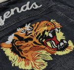 Men Embroidered Denim Jacket -8K801