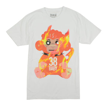 NEVER BROKE AGAIN 38 BABY FLAMES T-SHIRTS - WHITE