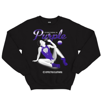 EFFECTUS EVERYTHING IS PURPLE CREWNECK BLACK