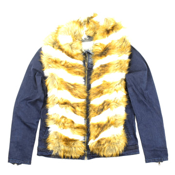 RS 1NE DENIM JACKET WITH FUR - DF9908