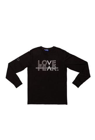 Love Over Fear Long Sleeve T-shirt  - Black