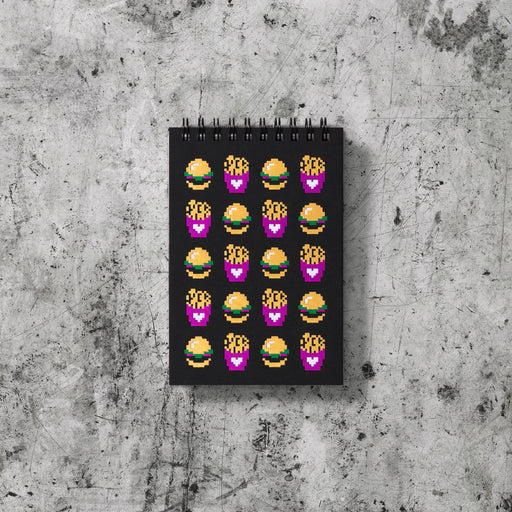 Mini Note Book: Fried Pixels