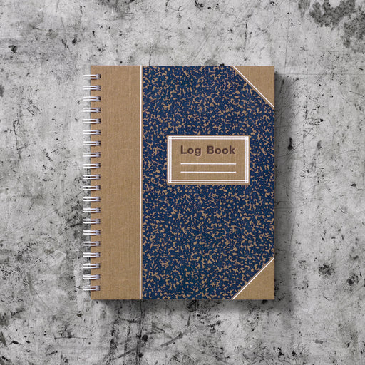 Signature Log Book: Indigo