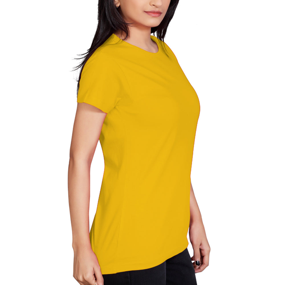 6c26dbfd0c65 Womens' Single Color T Shirt - Yellow – Ethos For You