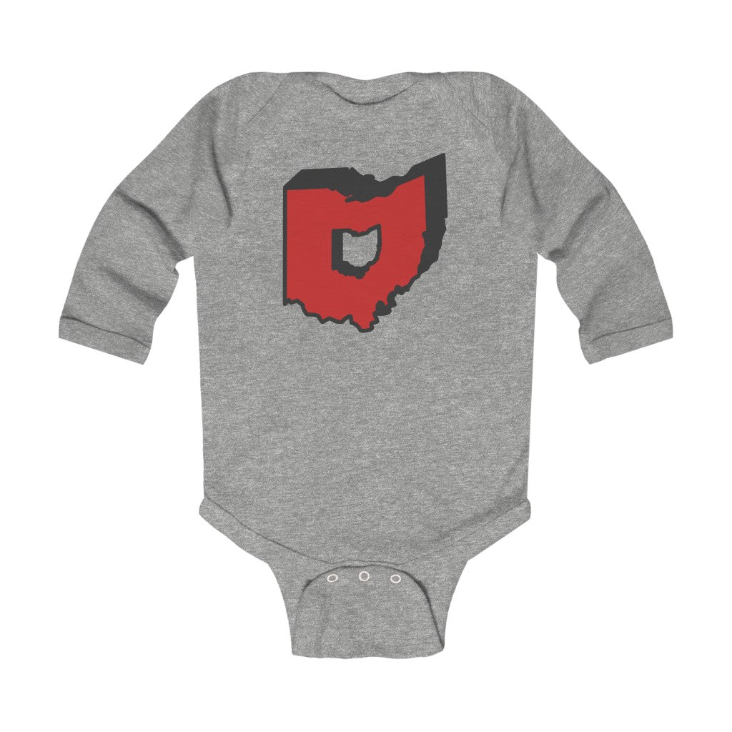 O State Infant Long Sleeve Bodysuit
