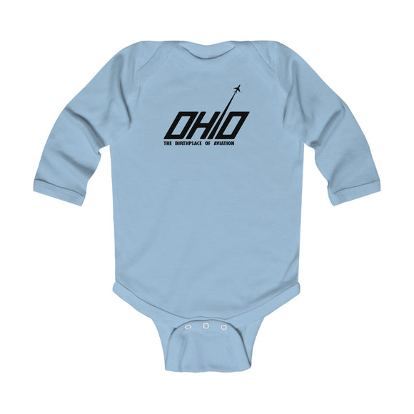 Ohio Aviation Infant Long Sleeve Bodysuit