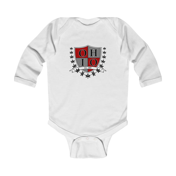 Ohio Crest Infant Long Sleeve Bodysuit