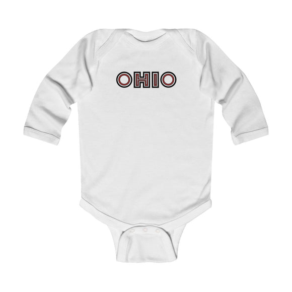 Ohio Bold Infant Long Sleeve Bodysuit