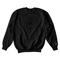 Black Logo Crewneck Black