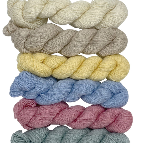 4ply (Fingering/Sports Weight):  Rare Breed Wensleydale and Bluefaced Leicester Natural - Undyed