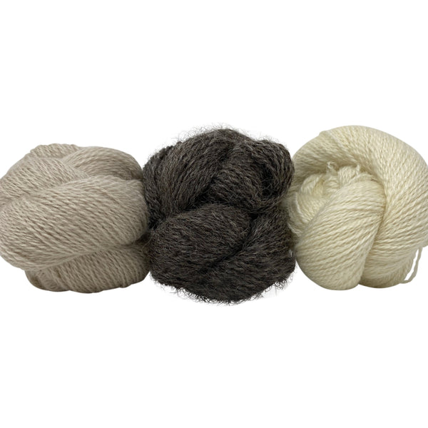 Incredibly Rare - Black Wensleydale: Naturally Coloured (4ply/Fingering/Sports Weight) 50g (1.76 oz)