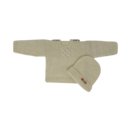 Bourton Baby Jumper, matching Hat and Booties