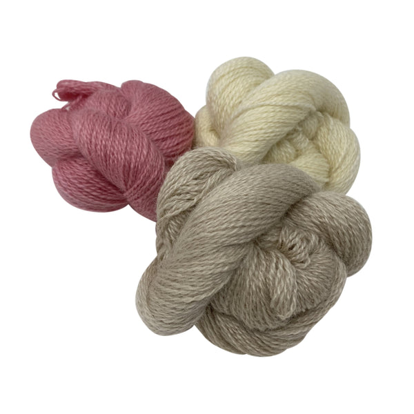 4 Ply / fingering weight worsted spun wool from Home Farm Wensleydales,