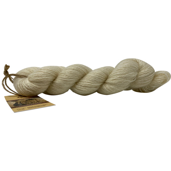 Natural 4ply (Fingering/Sports Weight) 100g (3.53 oz):  Rare Breed Wensleydale and Luxury Kid Mohair