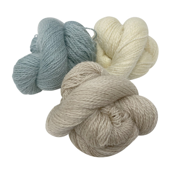 Natural 4ply (Fingering/Sports Weight) 50g (1.76 oz):  Rare Breed Wensleydale and Bluefaced Leicester