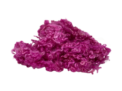 Pink - Wensleydale - Hand Dyed locks/fleece