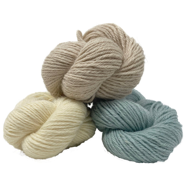 Natural DK (8 Ply/Light Worsted) :  Rare Breed Wensleydale and Bluefaced Leicester