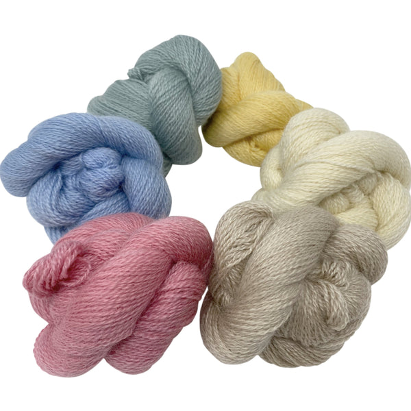 4ply (Fingering/Sports Weight) 50g (1.76 oz): Rare Breed Wensleydale and Bluefaced Leicester Sunrising Hill