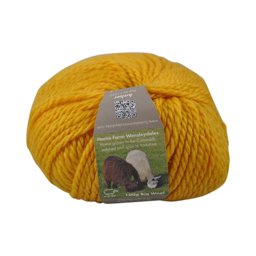 Amber Bulky Wool 100g (3.52 oz): Rare Breed Wensleydale and Bluefaced Leicester