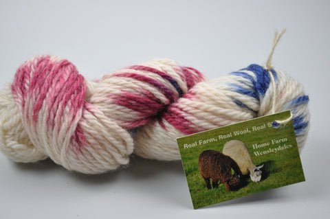Hand Dyed Rare Breed Wensleydale and Bluefaced Leicester: (Big Wool/Bulky)