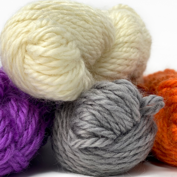 Natural (undyed) Bulky Wool: Rare Breed Wensleydale and Bluefaced Leicester 50g (1.76 oz)