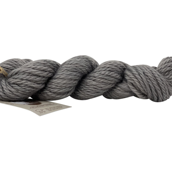 Home Farm Grey Bulky Wool 50g (1.76 oz): Rare Breed Wensleydale and Bluefaced Leicester