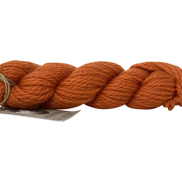 Tangerine Bulky Wool 50g (1.76 oz): Rare Breed Wensleydale and Bluefaced Leicester