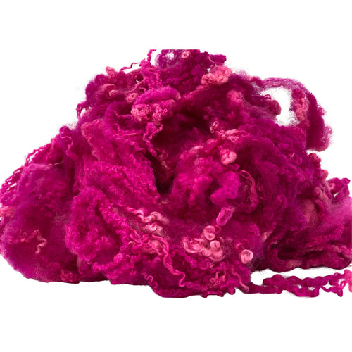 Hand Dyed Bluefaced Leicester fleece - Galah