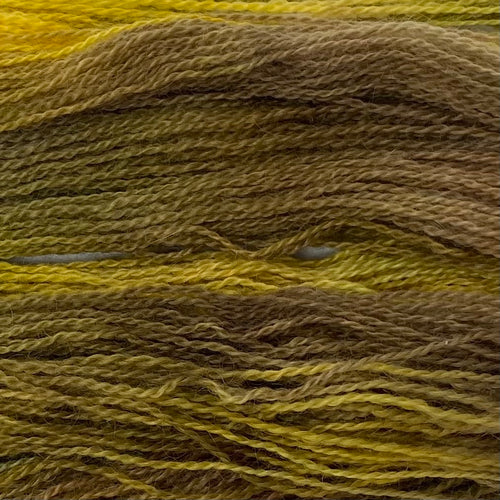 Hand-painted collection Woad Paint 4ply (Fingering/Sports Weight) 50g (1.76 oz): Rare Breed Wensleydale and Bluefaced Leicester