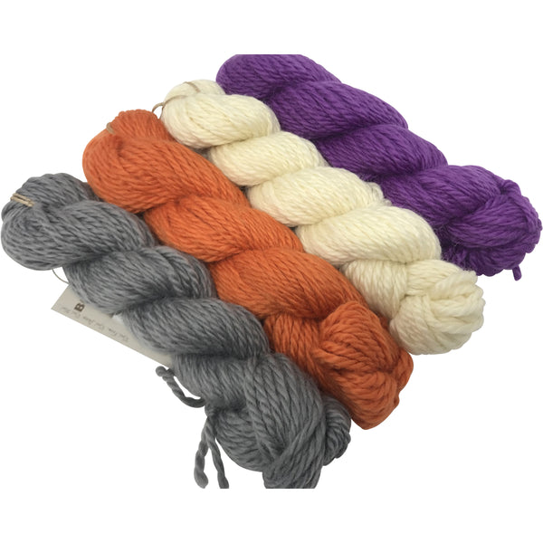 Boysenberry Bulky Wool 100g (3.52 oz): Rare Breed Wensleydale and Bluefaced Leicester